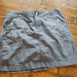 Tommy Hilfiger Chambray Polka dot Skirt Size 8
